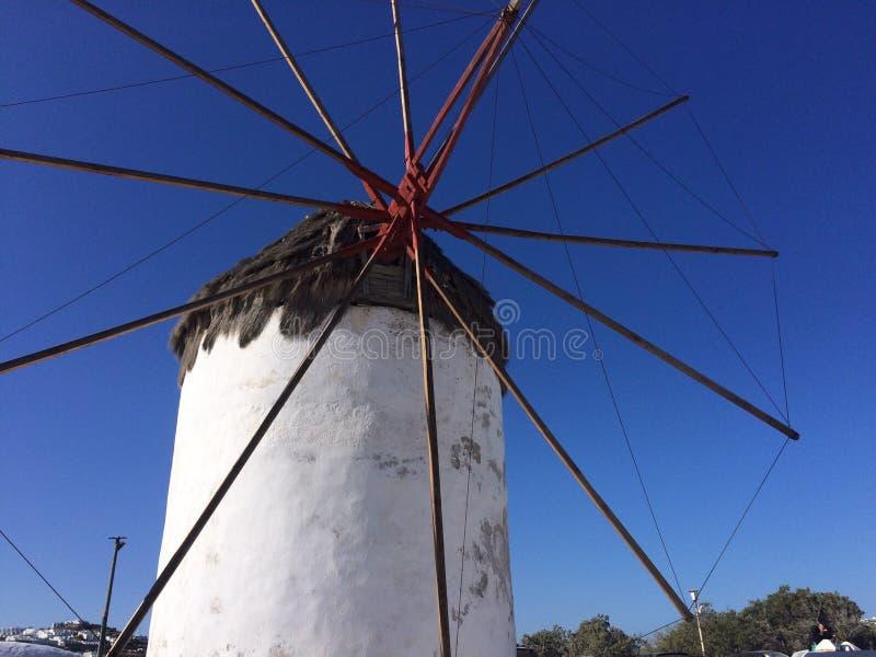 Griechische Windmühle lizenzfreie stockfotos