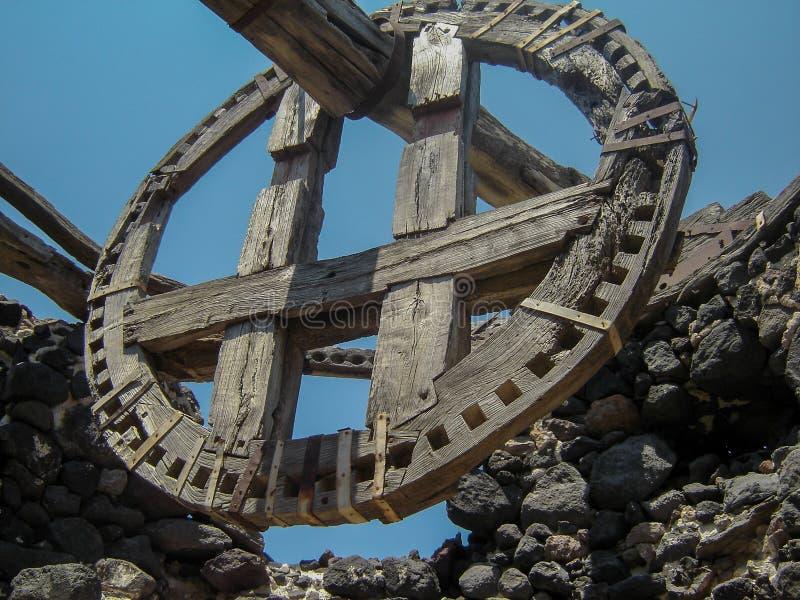 Griechische Windmühlen-Ruine lizenzfreie stockfotografie