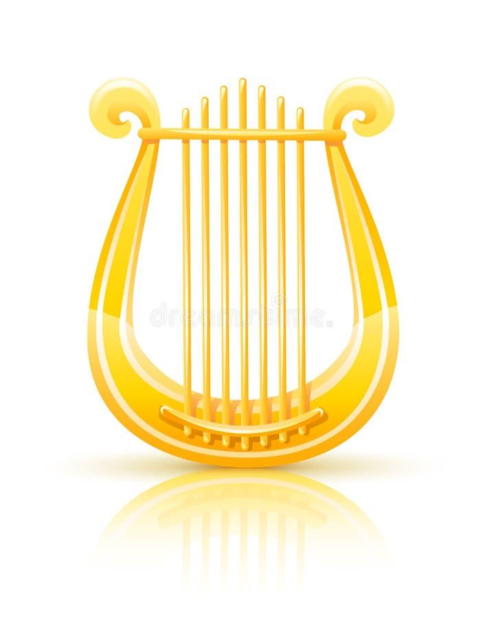 Griechischer goldener Lyre vektor abbildung
