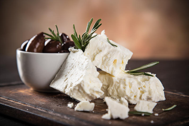 Griechischer Käsefeta stockfoto