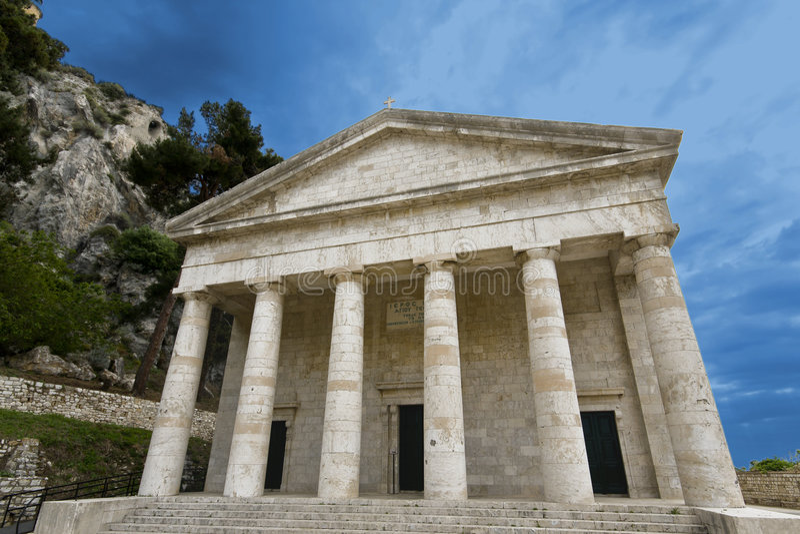 Griechischer orthodoxer Tempel stockfotos