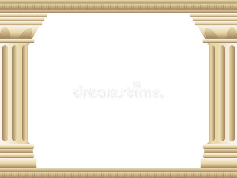 Griechischer Pfosten-Hintergrund stock abbildung