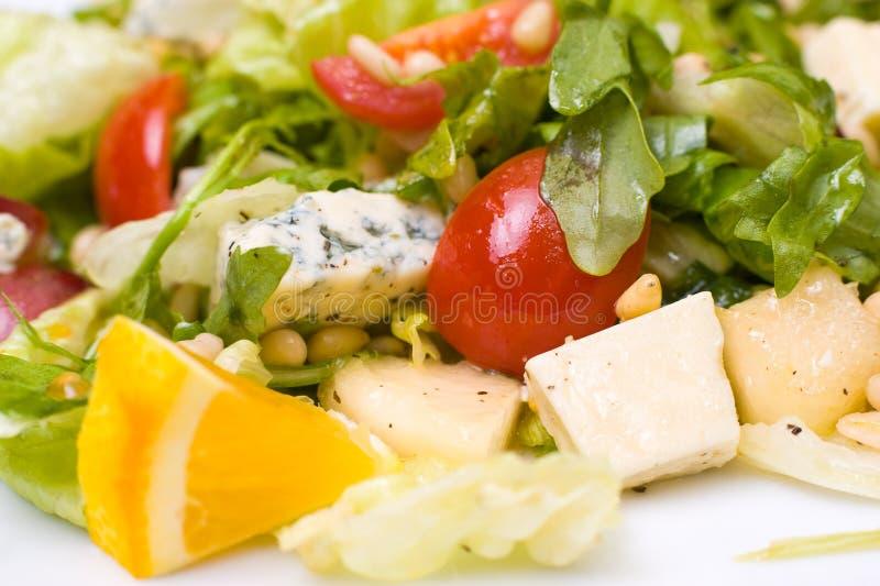 Griechischer Salat, Makro lizenzfreie stockbilder