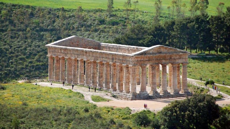 Griechischer Tempel bei Segesta stockbilder