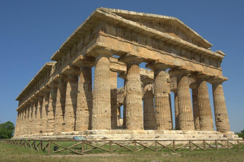 Griechischer Tempel Paestum stockbilder