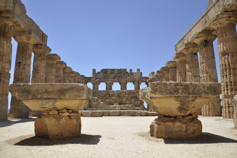 Griechischer Tempel in Sizilien. Italien. stockfotos