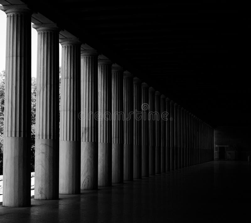 Griechisches Agora von Athen stockbild