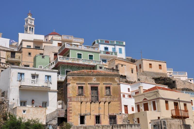 Griechisches Dorf auf karpathos Insel lizenzfreie stockbilder