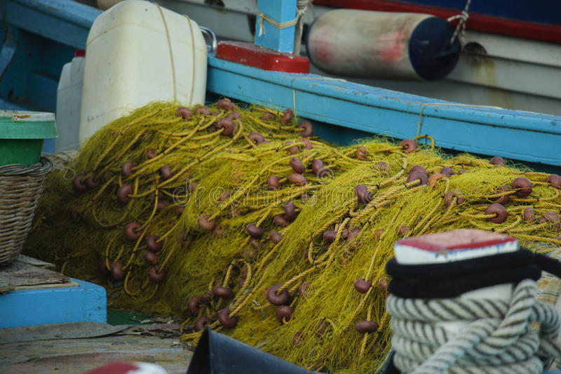 Griechisches Fischernetz lizenzfreie stockfotos