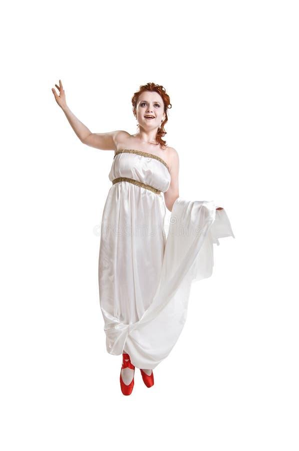 Griechisches Mädchentanzen stockfotos