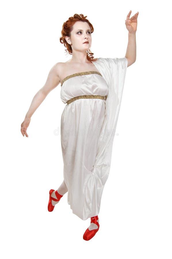 Griechisches Mädchentanzen stockbild