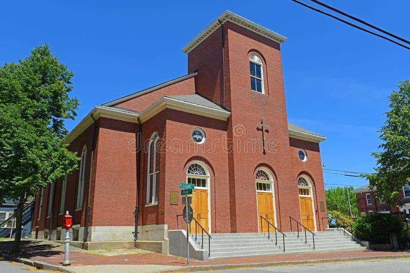 Griechisches orthodoxes der Heiligen Dreifaltigkeit in Portland, Maine, USA stockbild