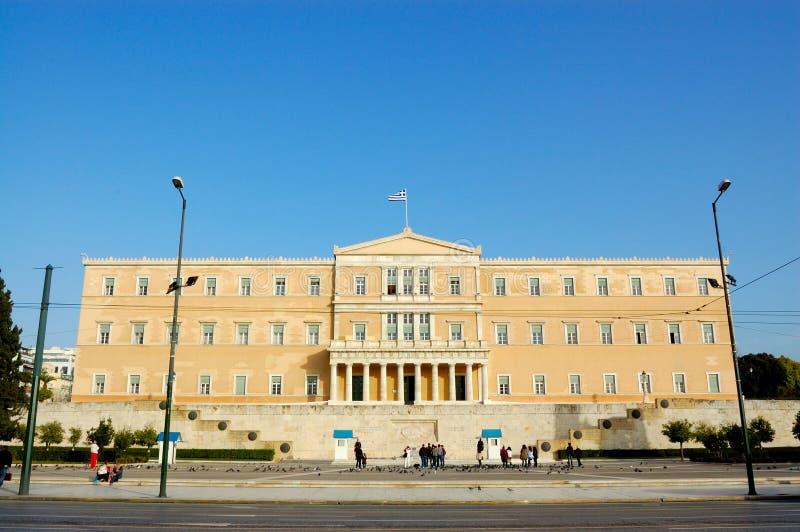 Griechisches Parlament, Athen lizenzfreies stockbild