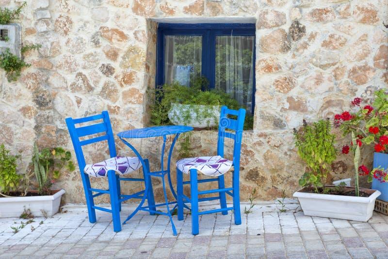 Griechisches taverna stockbilder