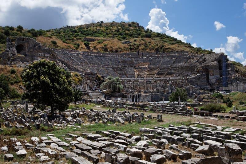 Griechisches Theater Von Ephesus Stockfotografie