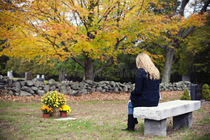Grief and mourning royalty free stock photo