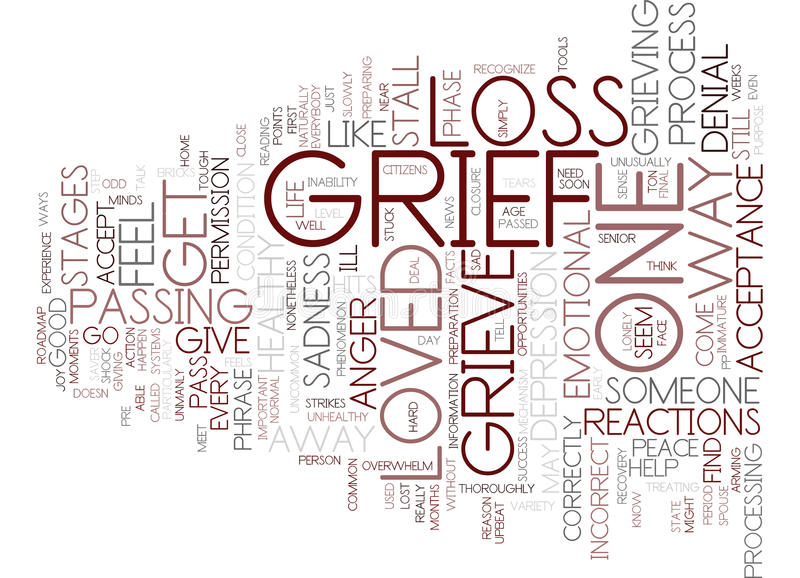 From Grief To Joy Word Cloud Concept stock illustration