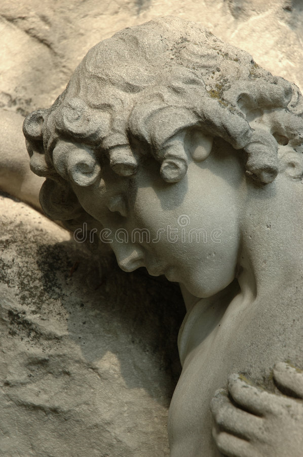 Grief turned into stone royalty free stock photos