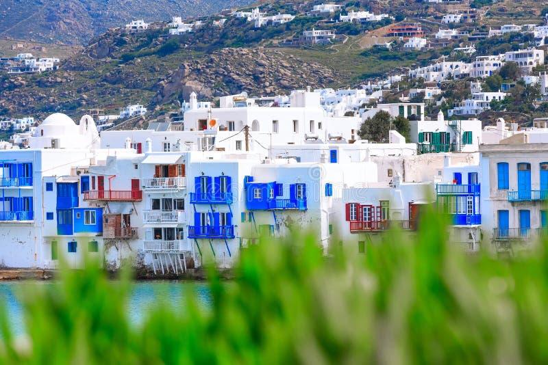 Griego poca Venecia, Mykonos, Grecia imagen de archivo libre de regalías