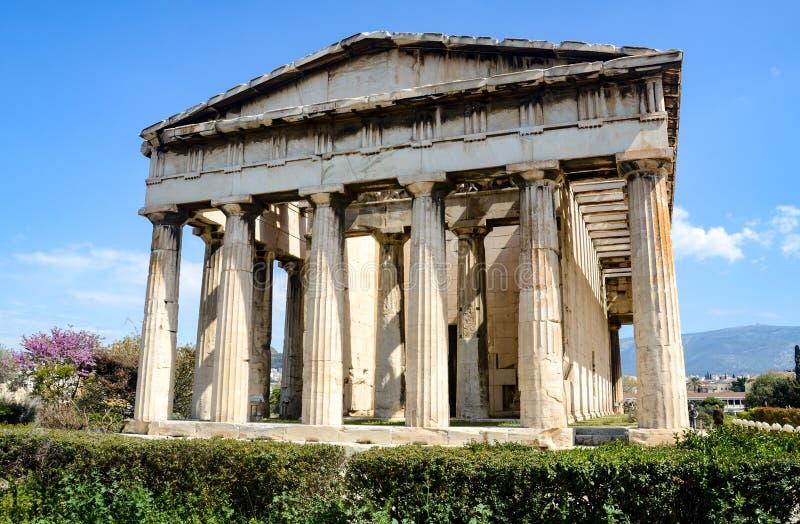 GRIEKENLAND, ATHENE - MAART 29, 2017: De Tempel van Hephaestus stock afbeeldingen