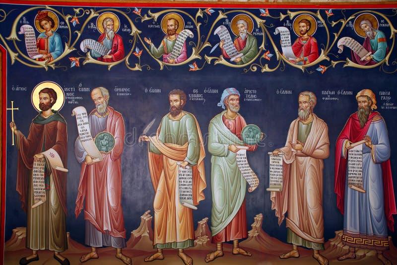 Griekenland, fresko stock fotografie
