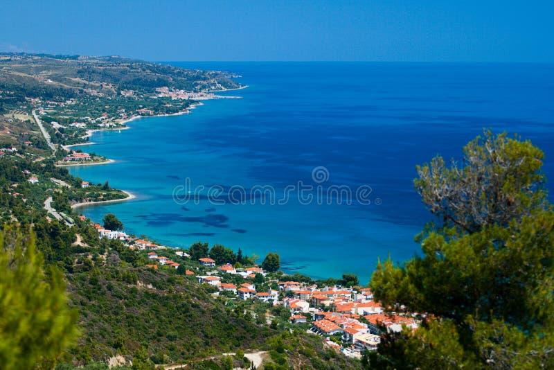 Griekenland, Kassandra, Chalkidiki. stock afbeeldingen