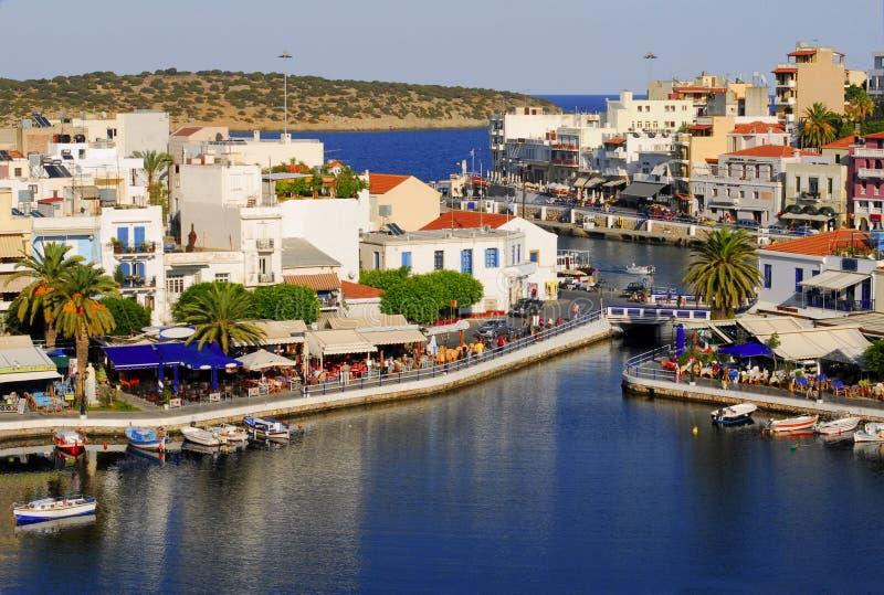 Griekenland, Kreta, Agio's Nikolaos stock afbeelding