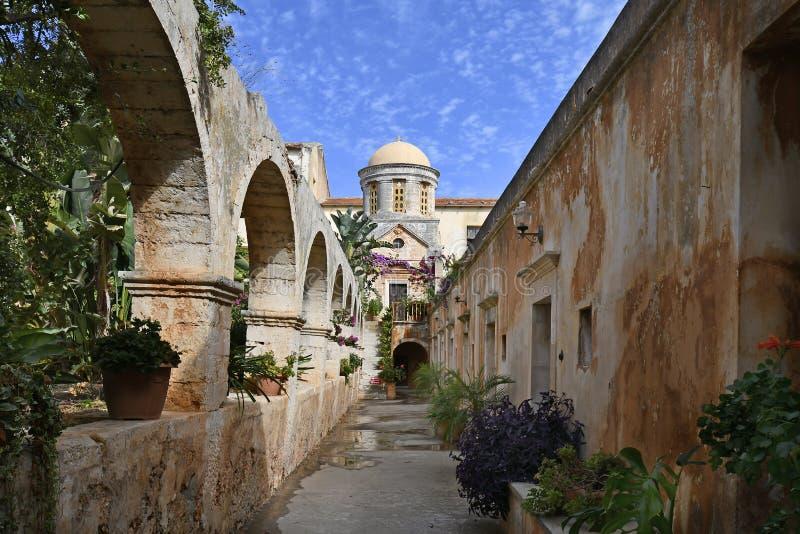 Griekenland, Kreta, Akrotiri, Heilig Drievuldigheidsklooster stock afbeeldingen
