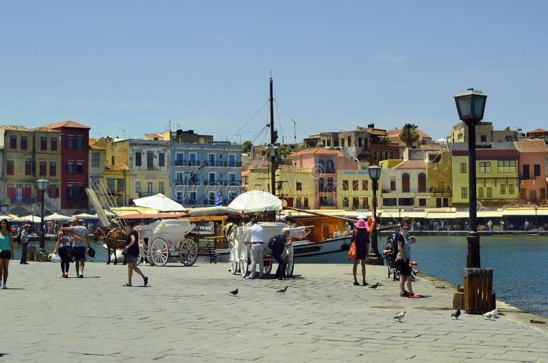 Griekenland, Kreta, Chania-haven stock fotografie