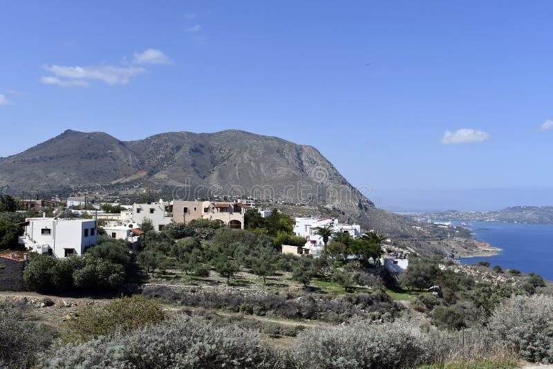 Griekenland, Kreta, Dorp Aptera royalty-vrije stock fotografie