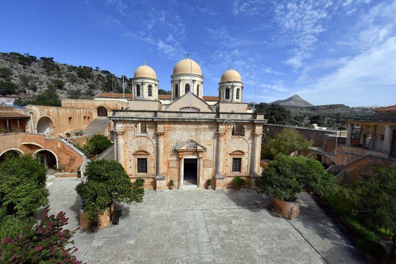 Griekenland, Kreta, Heilig Drievuldigheidsklooster stock afbeeldingen