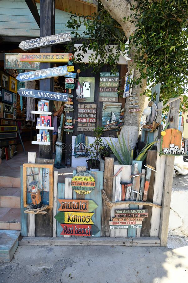 Griekenland, Kreta, Matala stock afbeelding