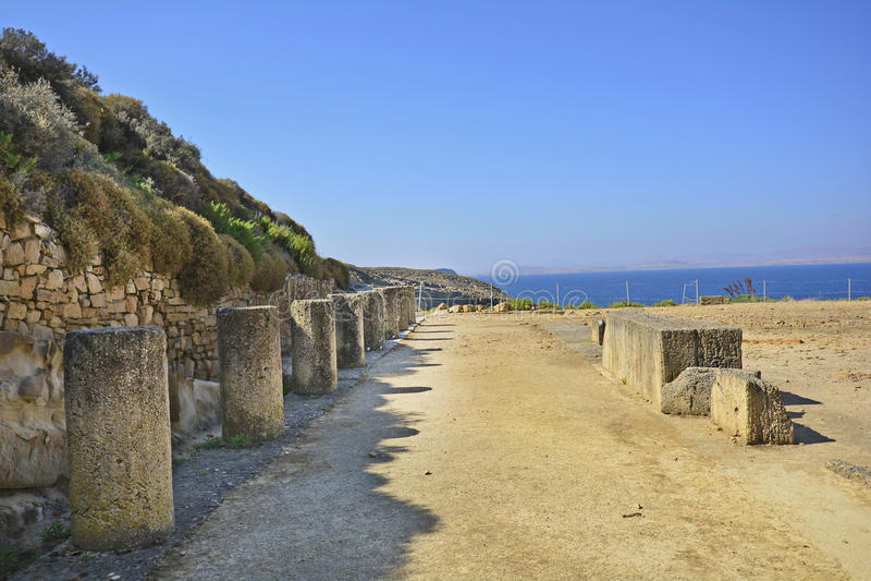 Griekenland, oud gebied in Lemnos-Eiland royalty-vrije stock foto's