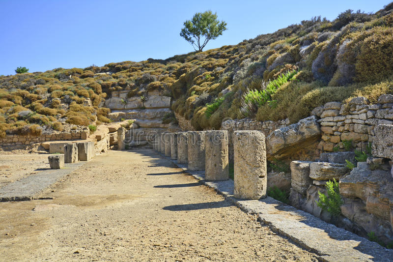 Griekenland, oud gebied in Lemnos-Eiland royalty-vrije stock fotografie