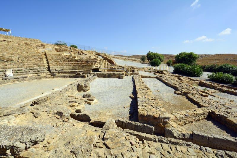 Griekenland, oud theater op Lemnos-Eiland stock afbeeldingen