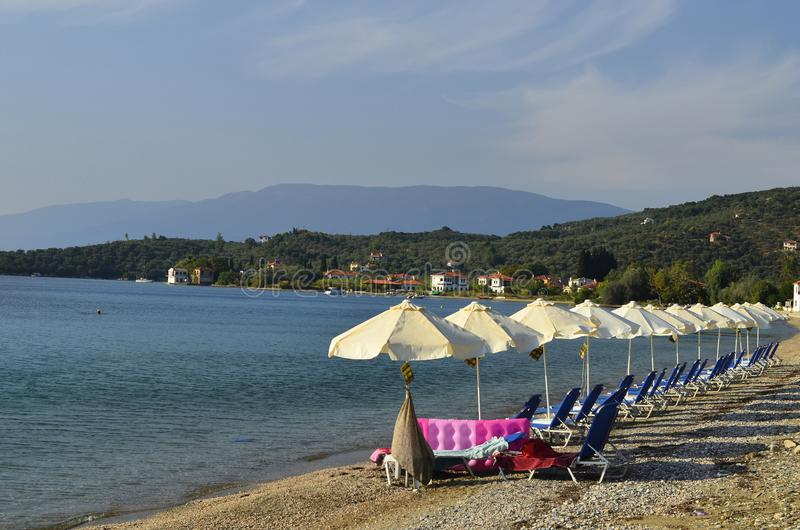 Griekenland, Pelion, strand in Kalamos stock fotografie