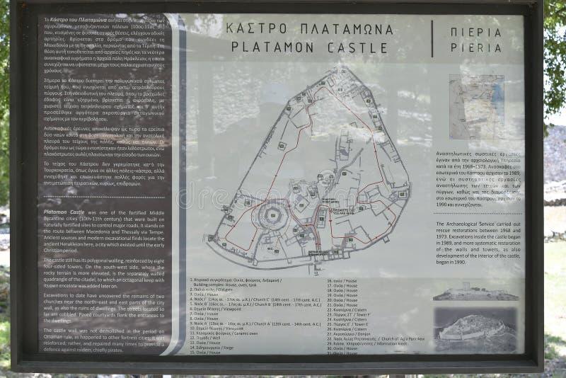 Griekenland, Platamon-Kasteel stock foto's