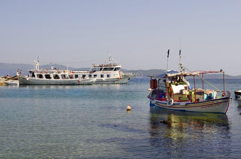 Griekenland, schepen, reis royalty-vrije stock afbeeldingen