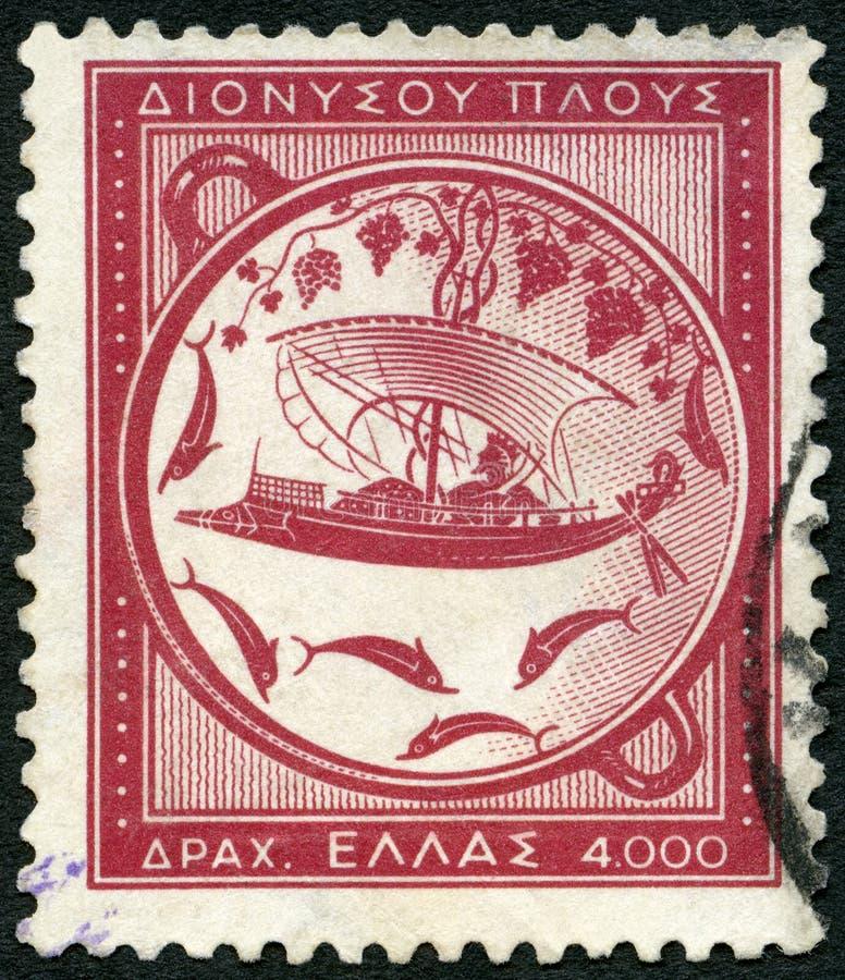 GRIEKENLAND - 1953: toont Reis van Dionysus royalty-vrije stock fotografie
