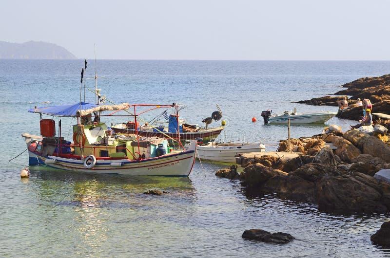 Griekenland, vissersboten stock foto