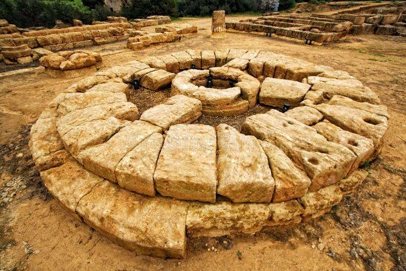 Grieks altaar stock afbeelding