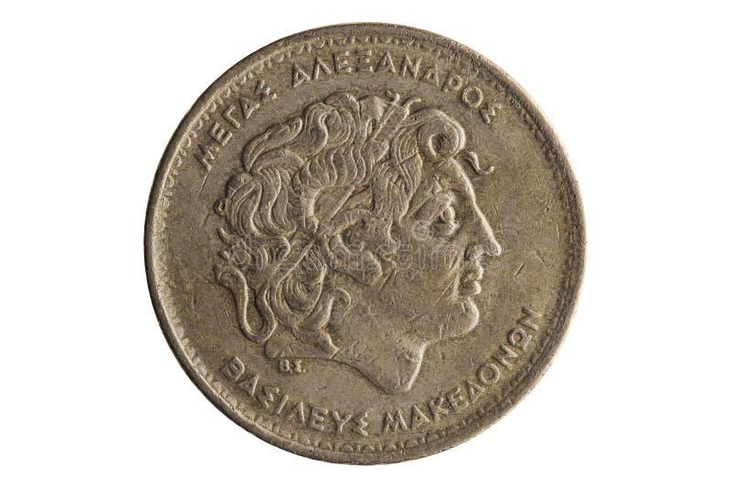 Grieks 100 drachmenmuntstuk Alexander Groot royalty-vrije stock foto