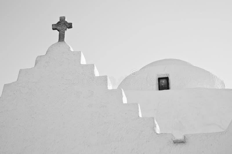 Grieks kerkdetail stock foto