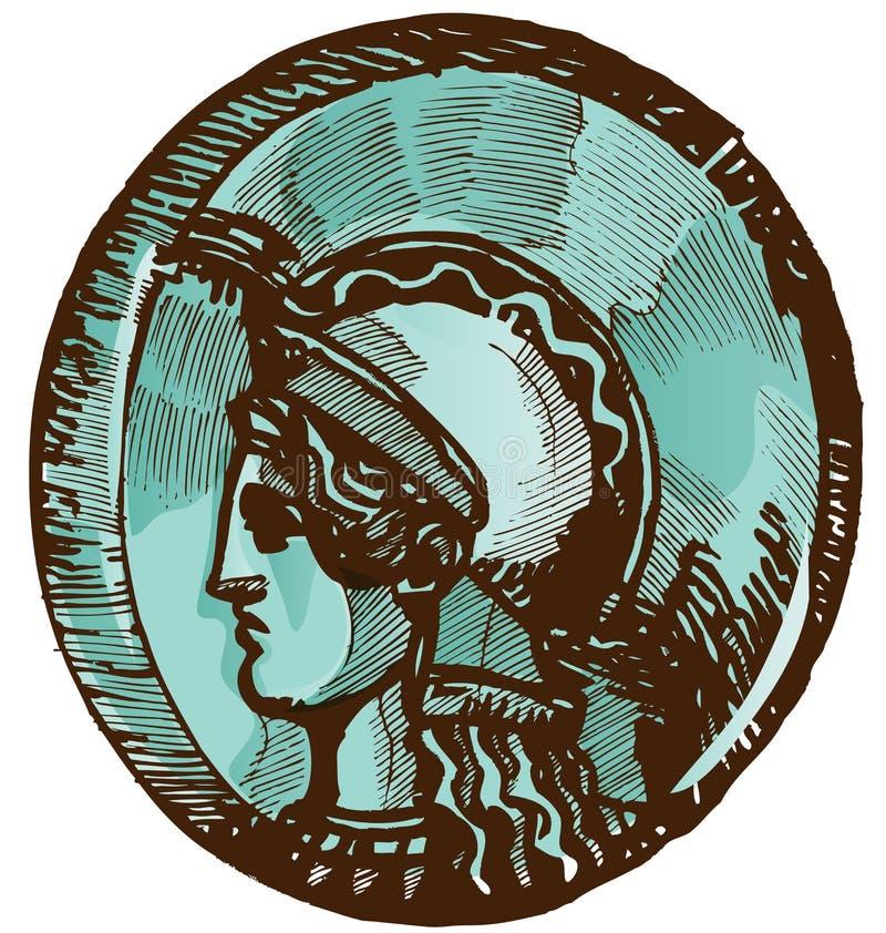 Grieks oud muntstuk royalty-vrije illustratie