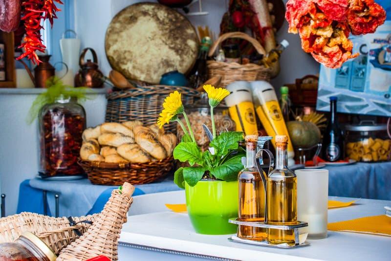 Grieks restaurant royalty-vrije stock foto's