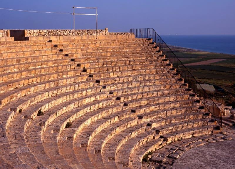 Grieks-Romeins theater, Kourion, Cyprus. stock afbeelding
