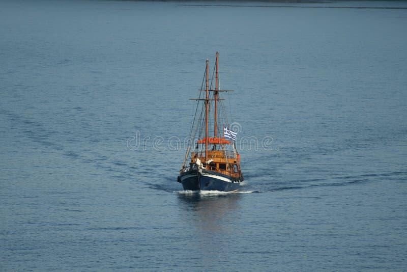 Grieks varend schip stock afbeeldingen