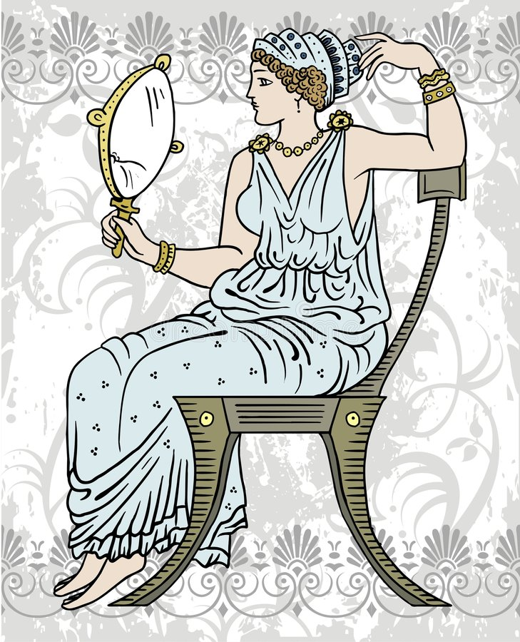 Grieks wijfje stock illustratie