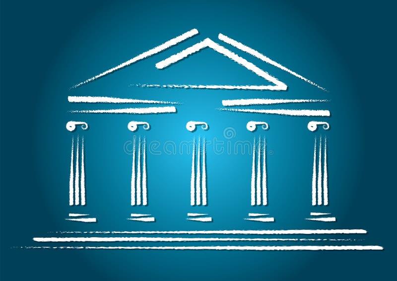 Griekse architectuur royalty-vrije illustratie