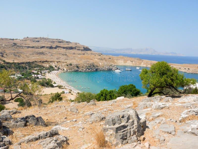 Griekse baai stock fotografie